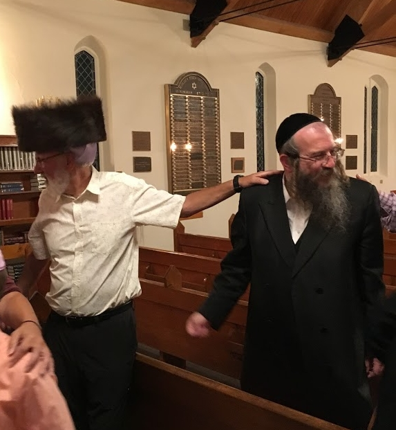 A Welcome Visitor sharing his shtreimel