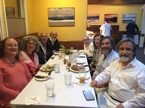 DINNER IN BURLINGTON WITH RABBI EDLESON