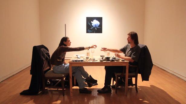 Current Queens Museum studio artists Filip Olszewski & Bunny Rogers in their QM studio.Photo courtesy of the Queens Museum.