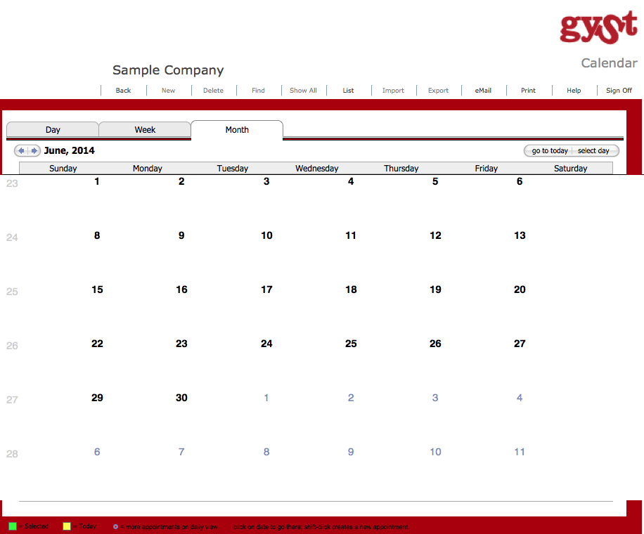 GYSTPro 4.0 Software_Calendar for Artists