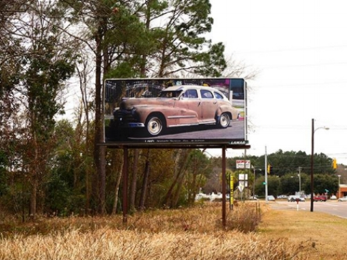 """From """"The Manifest Destiny Billboard Project""""a series of artist-produced billboards and activations that unfolded along Interstate 10 Freeway from Florida to California through June 2015."""