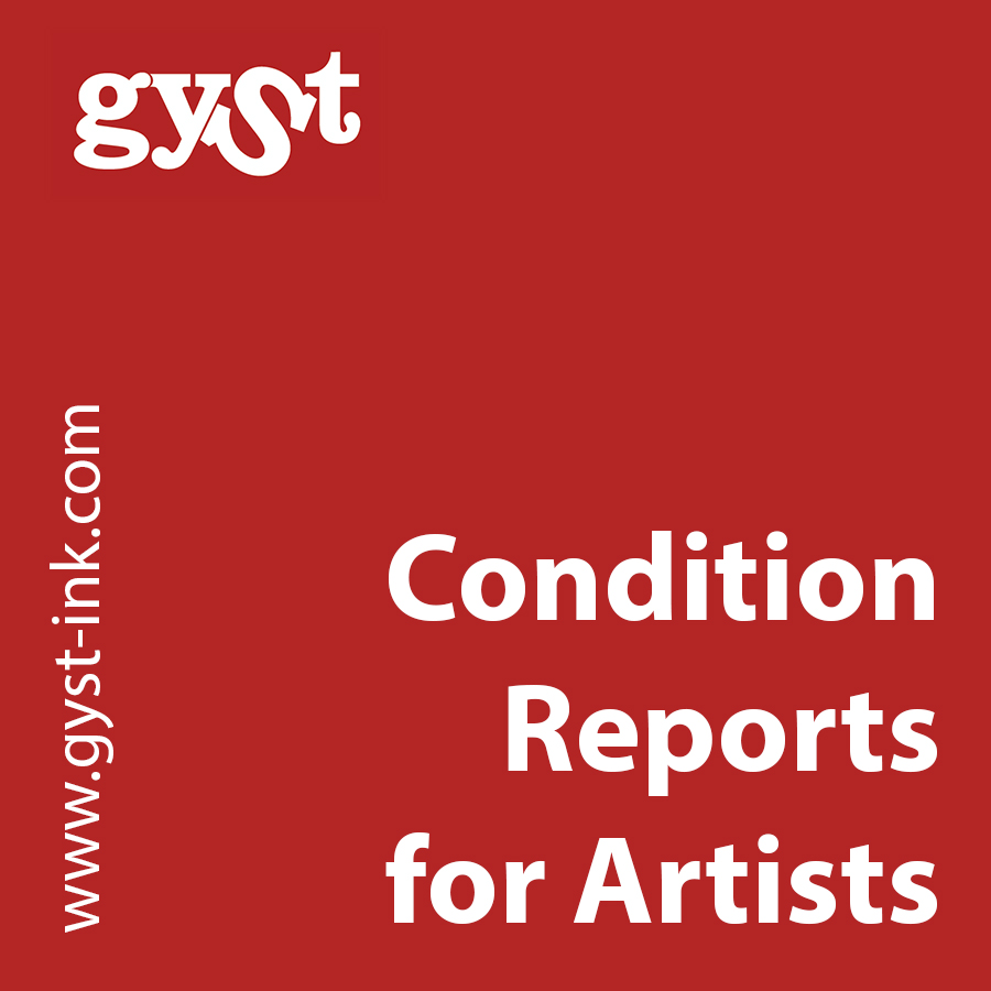 condition reports for artists