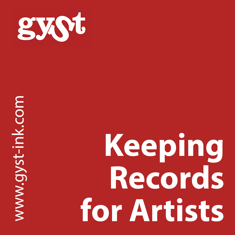 keeping records for artists