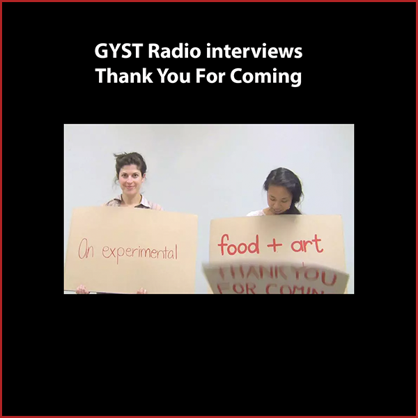 "GYST DO IT! With Thank You For Coming - Guests on the show are two core members of Thank You For Coming, Laura Naguera and Blake Besharian.TYFC is an artist-run restaurant that is home to an interdisciplinary artist residency program. Each month, a new artist is selected to work on their ideas as well as make and serve food in the context of their proposed project.Past residencies include The Heretics Kitchen presented by artist collaborative The Order, exploring food, fiber, labor and feminist history through the presentation of famine foods – simple peasant staples of bread, potatoes, beans, vegetables, and ritual feasts. With Special Meal, diners chose from a menu of ""last meals"" requested by prisoners on death row.Thank You for Coming is volunteer-run and also hosts workshops, performances and special events. TYFC is located in Atwater Village, Los Angeles and open Wed-Sun. for lunch and dinner.www.thankyouforcoming.laHosted by Kara Tome"
