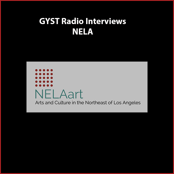 GYST DO IT! With NELAart - Guests are the founder of NELAart, Brian Mallman and its current executive director Cathi Milligan. Both are artists who have been residents of the area for many years and have been instrumental in building and sustaining a stong arts community in the Northeast District of Los Angeles.Brian runs an alternative gallery called 50NYork and Cathi runs The Glass Studio, a store and education space, both located on York Avenue in Highland Park.NELAart Organization is comprised of galleries and arts organizations that are dedicated to increase the visibility of the thriving arts community in the area. The neighborhood is home to more than thirty galleries, alternative arts spaces and arts organizations and countless artists live and work in the area. NELAart provides a resource to share information and ideas, and assist in promoting galleries, organizations and artists.NELAart organizes a popular artwalk every second Saturday of the month and publishes a monthly newspaper, the NELAart News.Visit - nelaart.orgHosted by Kara W. Tomé