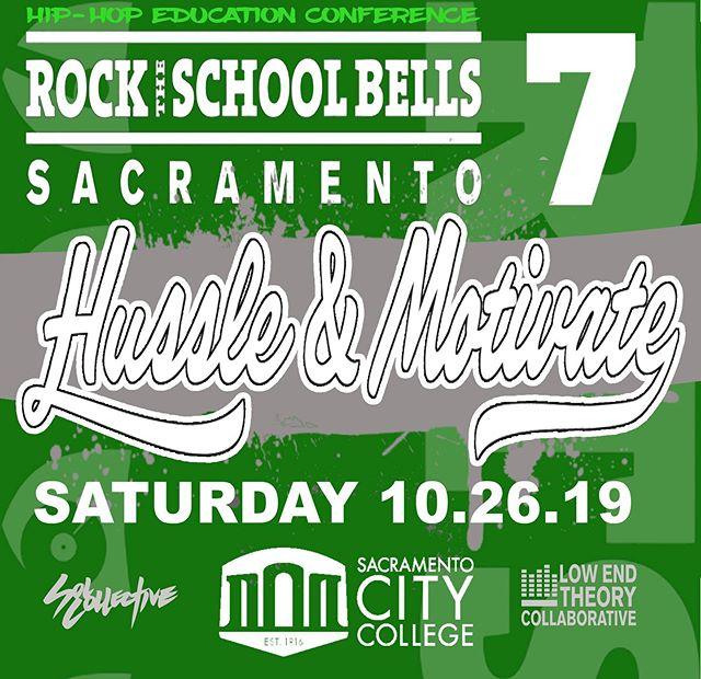 Rock the School Bells 7, DM for registration info. #hiphopiseducation #hussleandmotivate #rtsb