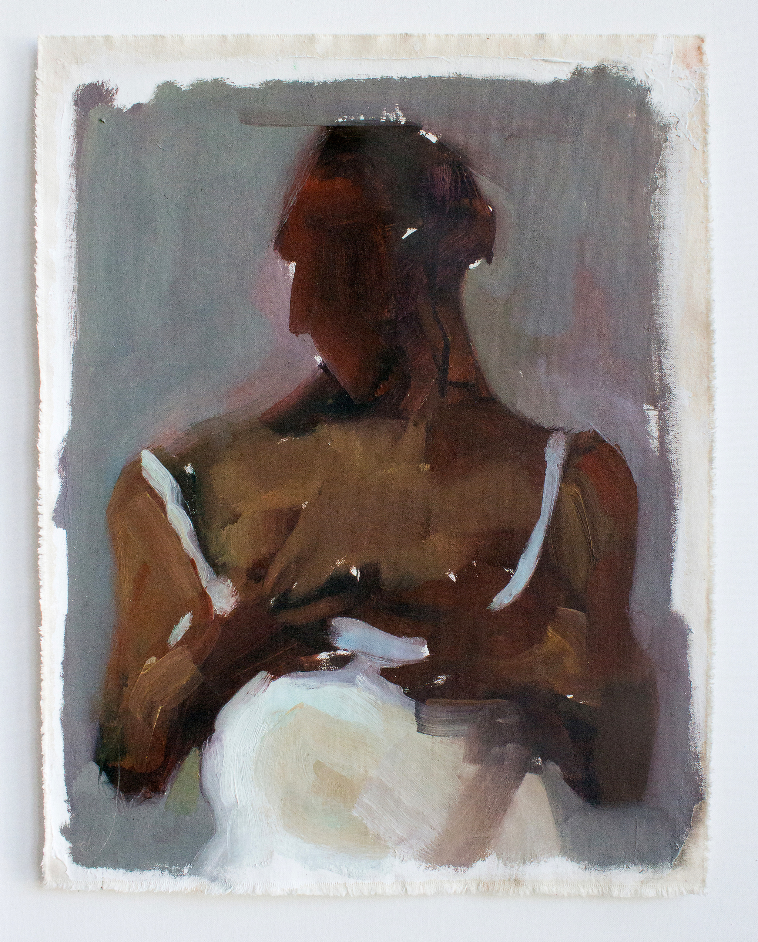 """Access_Resist 1_H19""""xW14.5""""_Oil on canvas_2014"""