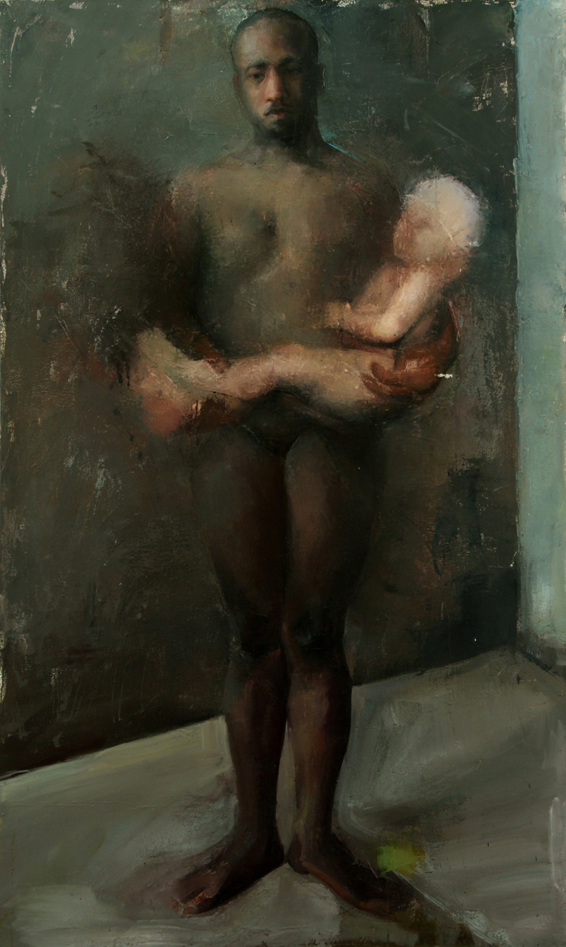 """Every Body Knows all stories, Oil on canvas, H60""""xW36"""", 2007"""