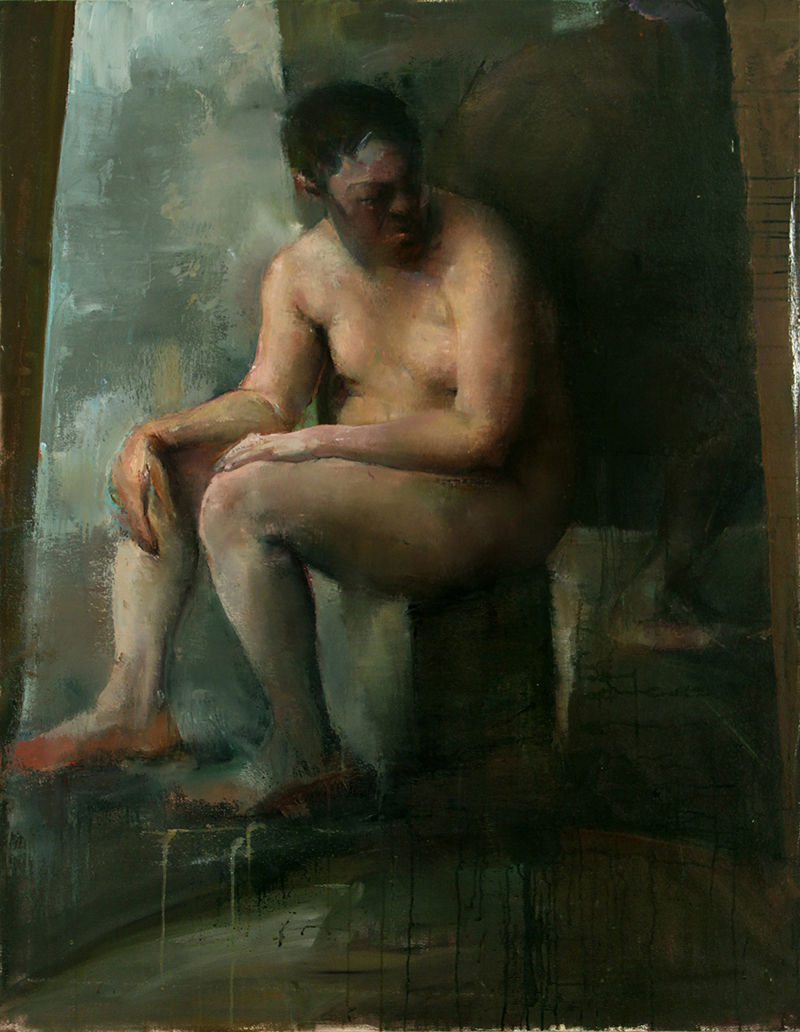 """Every Body Knows, waiter 2, Oil on canvas, H54""""xW42"""", 2008"""