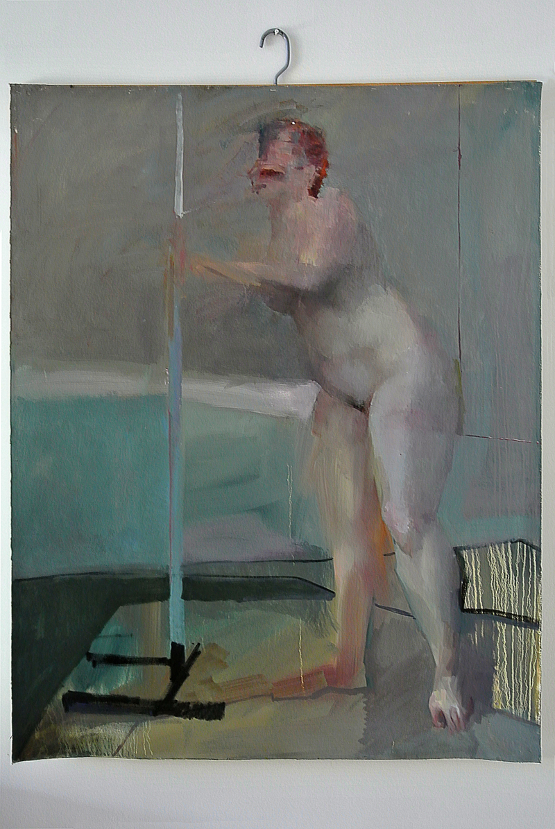 "BESIDE, breath, Oil on canvas, H60""xW48"", 2011"