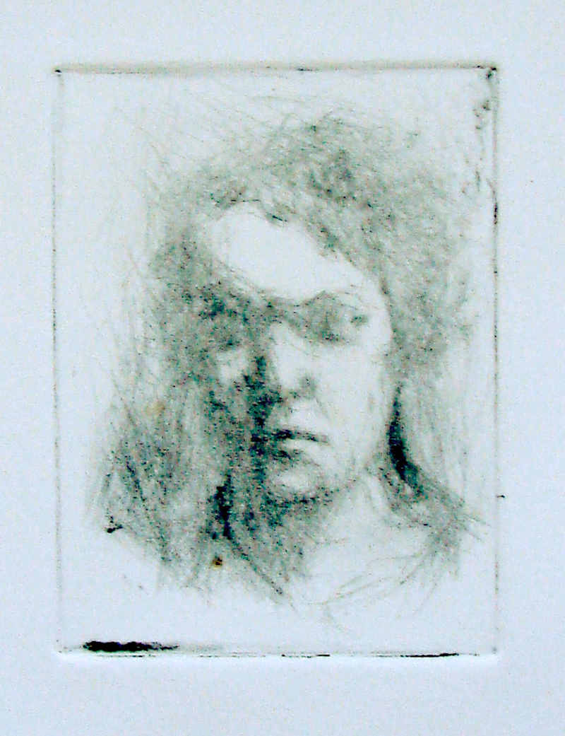 """Drypoints, little defenses 2. Ink on paper H5""""xW4"""", 2010"""