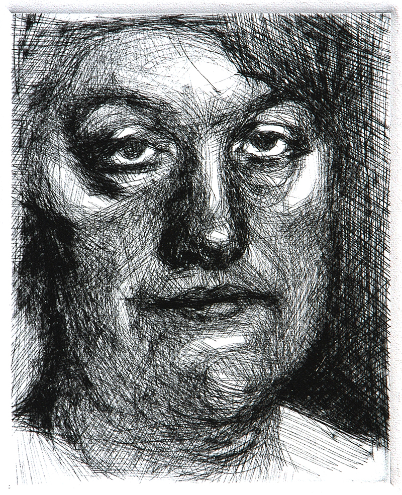"""Drypoints, little defenses 3. Ink on paper H5""""xW4"""", 2010"""
