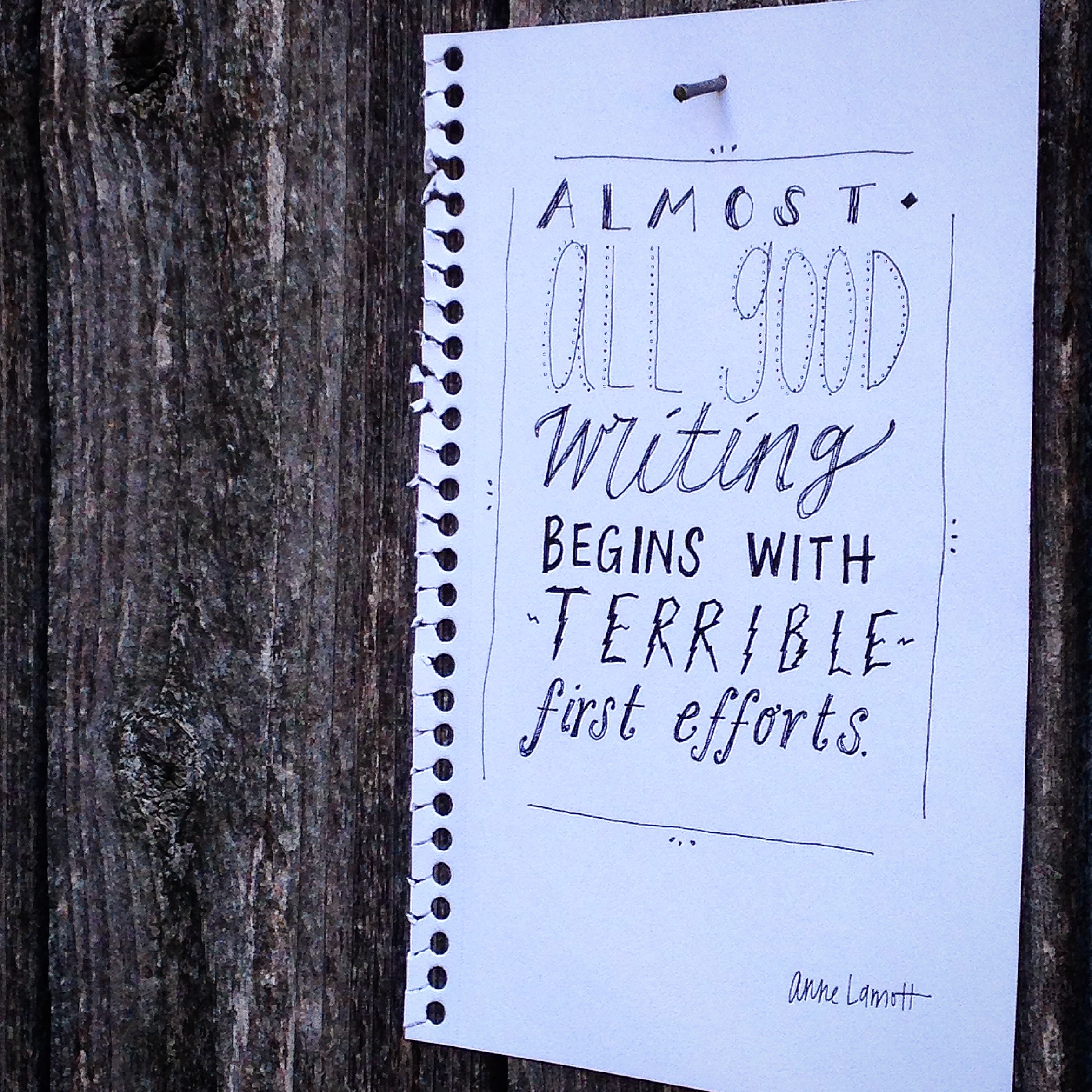 Writing starts terribly. It's practically supposed to. | lucyflint.com