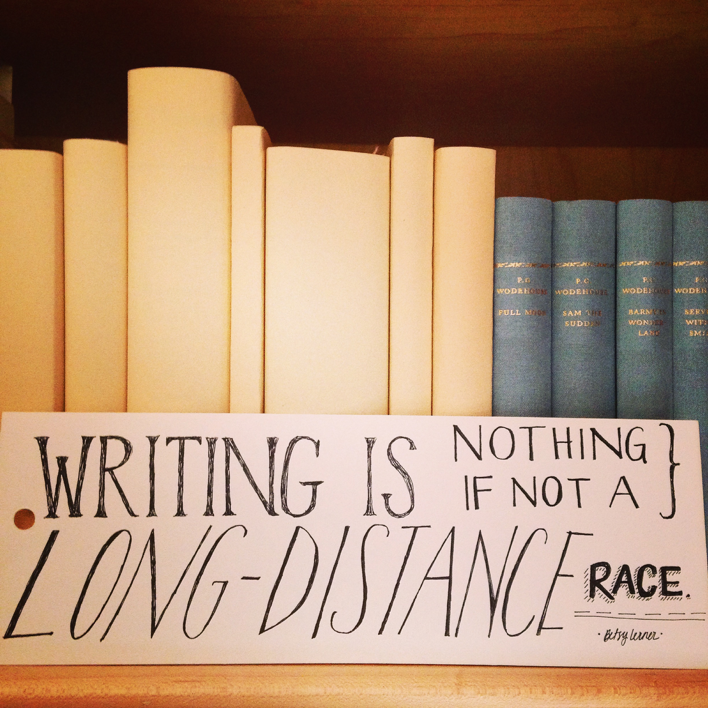 Writing is a marathon. Pace yourself. And stick with it. | lucyflint.com