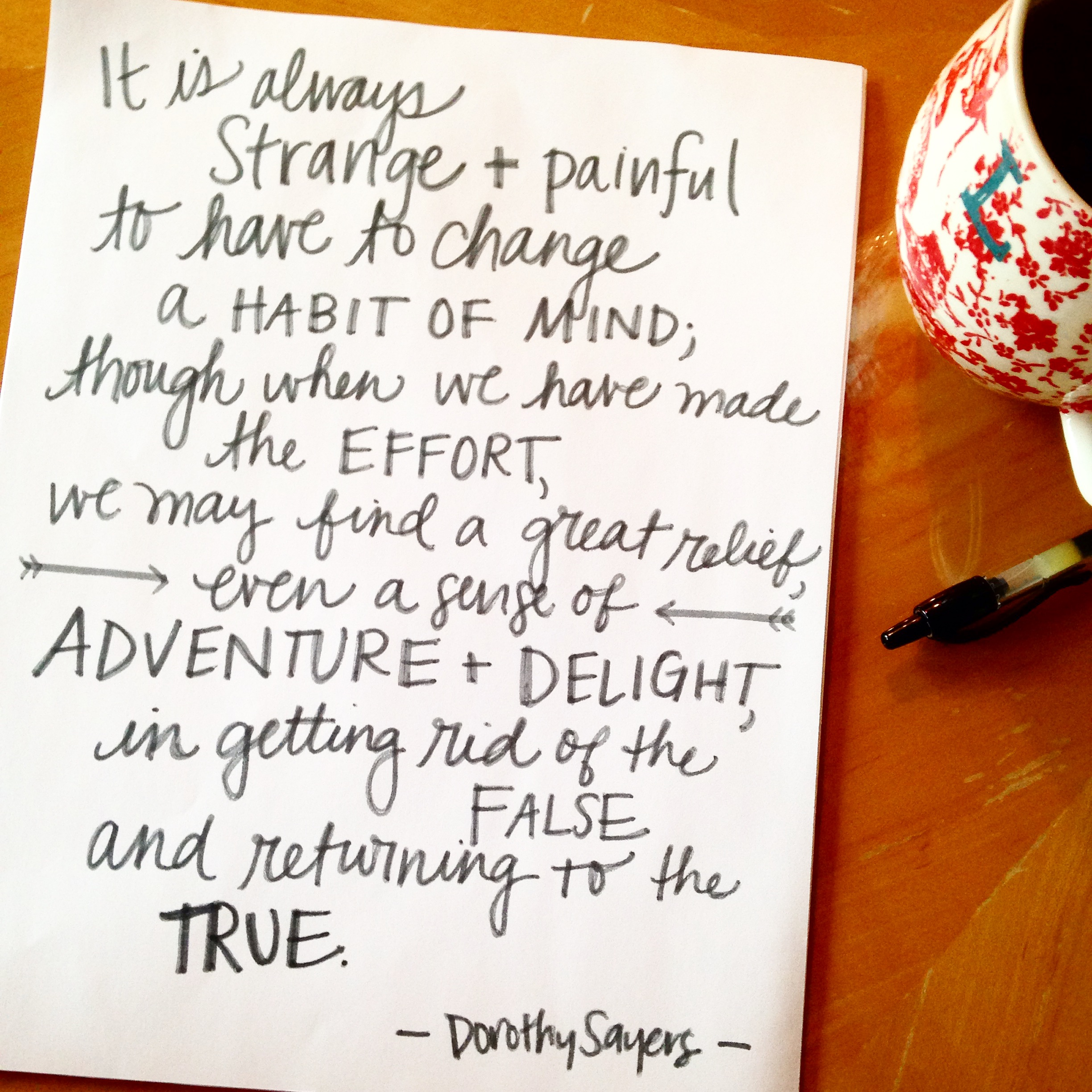 There is adventure and delight in throwing out your crappy ways of thinking and replacing it with truth. | lucyflint.com