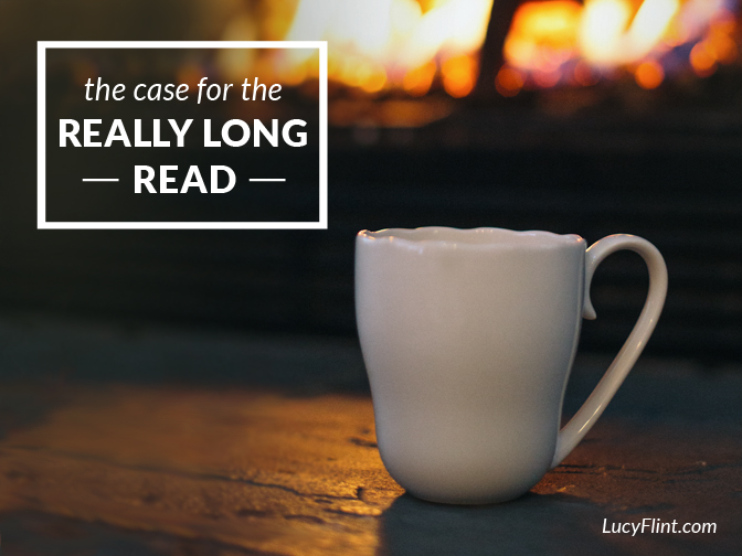 Save your brain: read a ginormous book. | lucyflint.com
