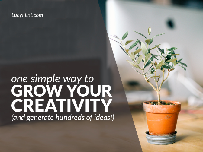 You have hundreds of ideas at your fingertips. | lucyflint.com