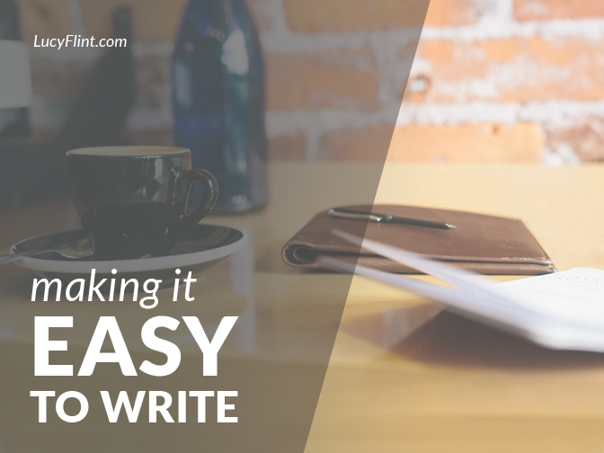While it will never be confused with a piece of cake, writing *can* be made easier. The trick is to keep your mind warmed up. Always. | lucyflint.com