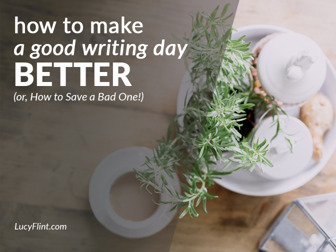 Wanna kick your writing day up a notch? A reading recommendation that just might make all the difference. | lucyflint.com