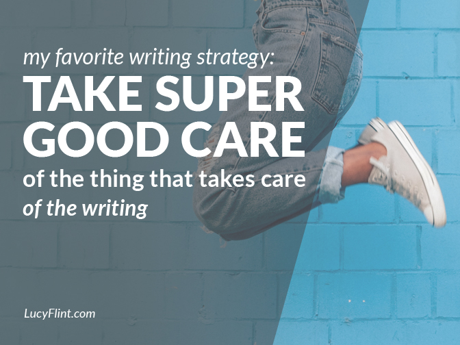 During a mega-drafting marathon (hey there, Nanowrimo!), one of your best writing tools can take a big hit. Here are some quick ideas for how to avoid that.   lucyflint.com