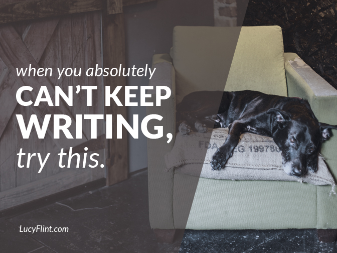Has desperation set in with your manuscript? Here are your desperate measures. Four strategies to help you keep going when you thought you just. couldn't. even. | lucyflint.com