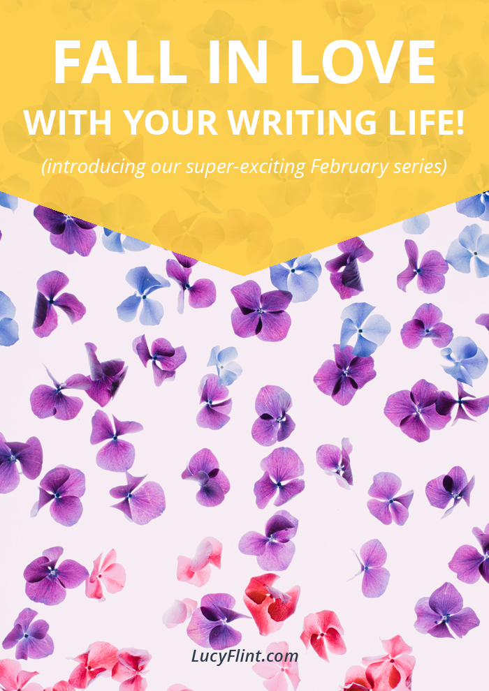 If you've felt a little distanced from your writing life lately, or if you're doing just fine: Either way, have we got a series for you!! Daily prompts for falling back into love with your writing life. This means you. Get ready to be a lot happier. | lucyflint.com