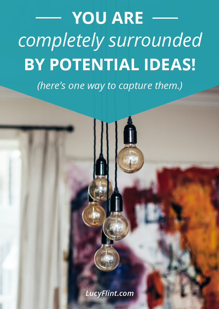 You have a wealth of ideas right at your fingertips: here's a fun, easy way to capture them! | lucyflint.com