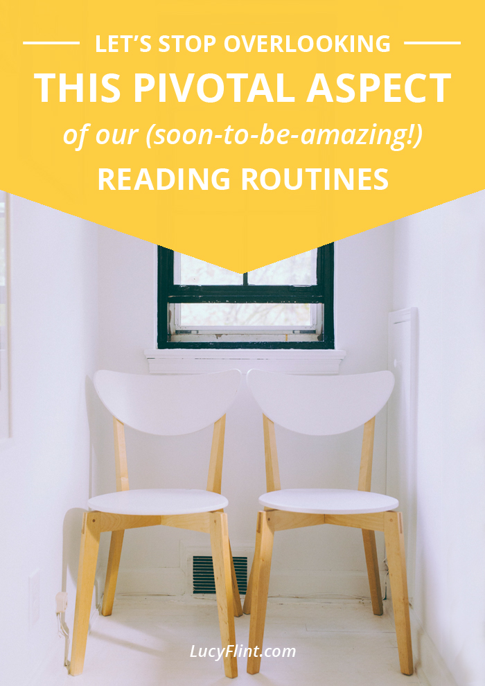 It *seems* like a small, silly, forgettable piece of our reading habits. ... But is it? I'm pretty sure it's gonna be a game-changer for me, and you, and everyone else! | lucyflint.com