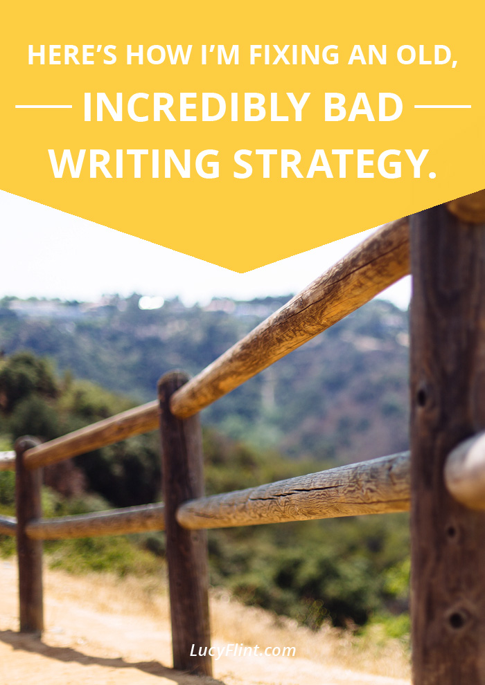 It's tempting to think that we can writing at an amazing level, while still keeping this bad (deceptive!) habit around. But I'm slowly learning: I can't do both. Here's why. | lucyflint.com