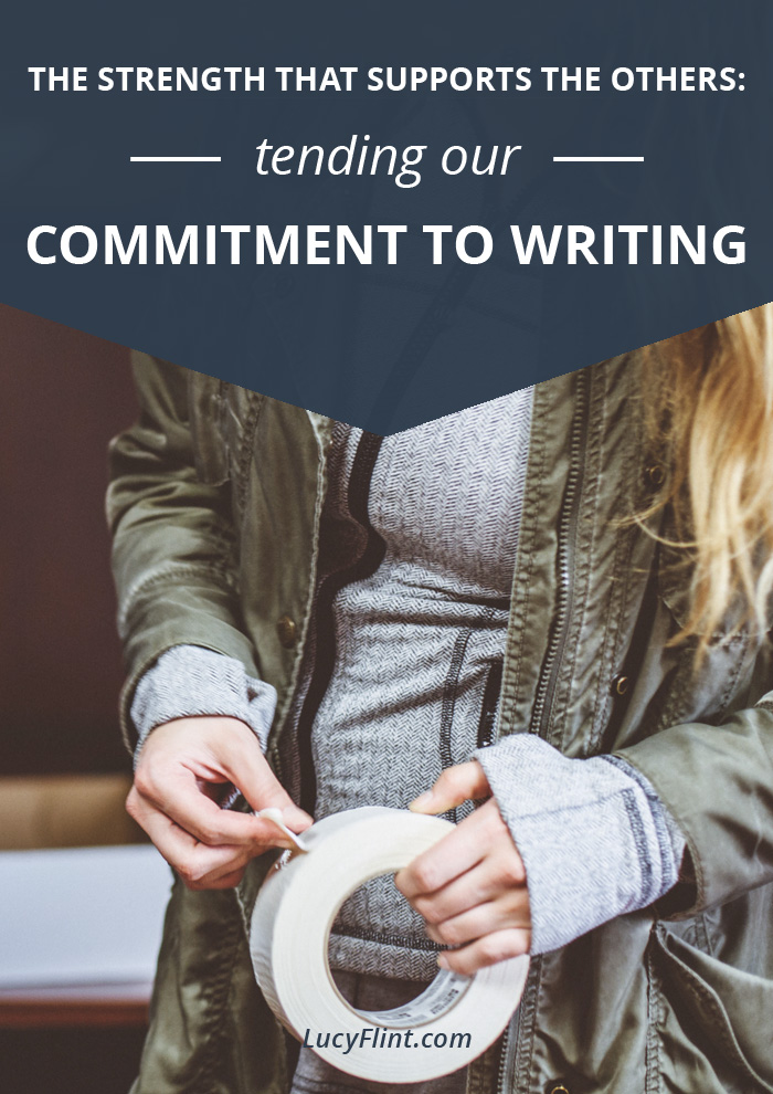 If we're not committed to our writing--mentally, emotionally, and creatively--we're just not gonna go very far. How to forge a stronger commitment? Check out this list. | lucyflint.com
