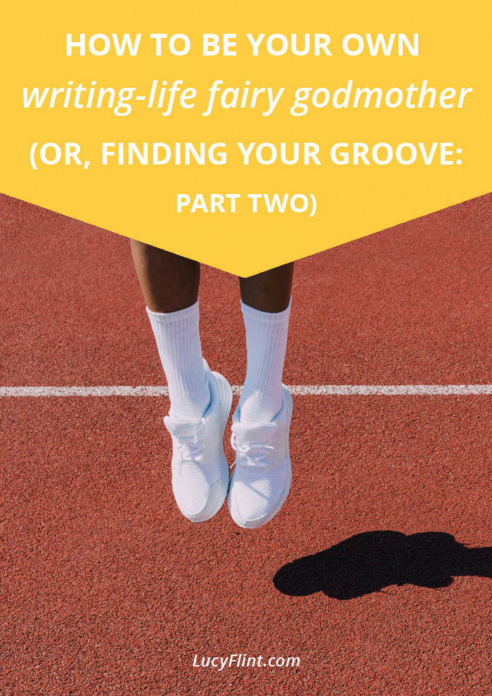 Getting into a good groove is essential for long-term sustainable writing life. (Plus, it's way more fun. I mean seriously. So much nicer than a slog.) In this post, four more ways to find your way into one. You'll think your fairy godmother just showed up. (Pumpkins optional.) | lucyflint.com