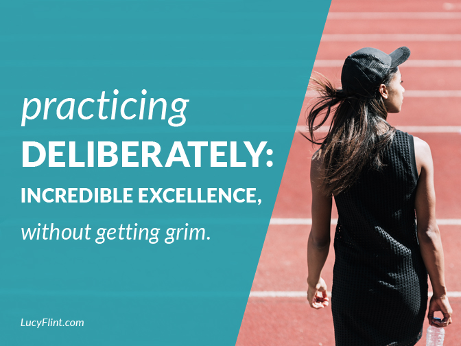 Two posts on what it looks like to keep challenging ourselves to get better ... but without feeling grim and depressed. A bit of grit and a bit of grace for your writing. | from the LucyFlint.com archives
