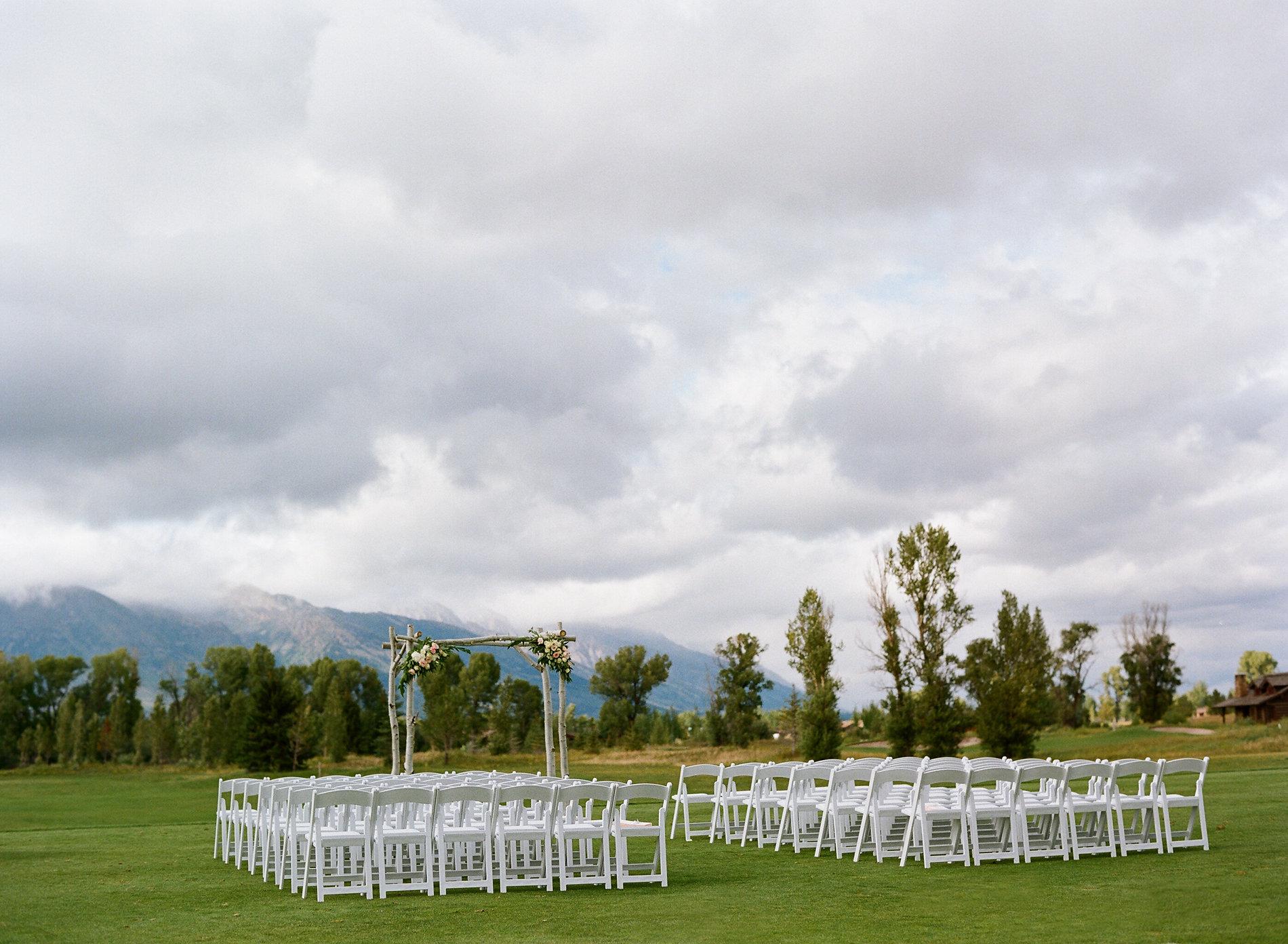 Jackson Hole Golf and Tennis wedding ceremony site