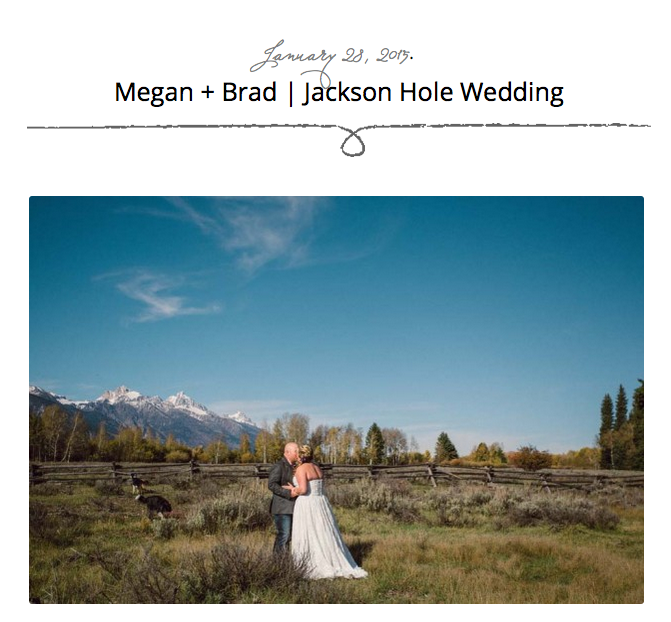 Fall Jackson Hole wedding