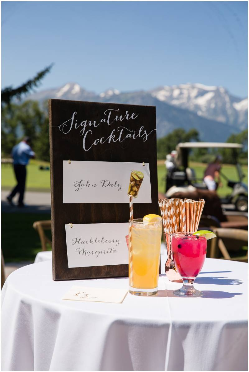 signature cocktails wedding