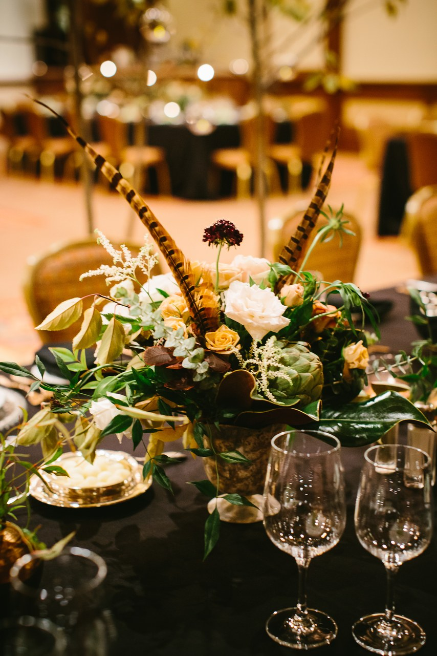 Fall decor wedding jackson hole wyoming
