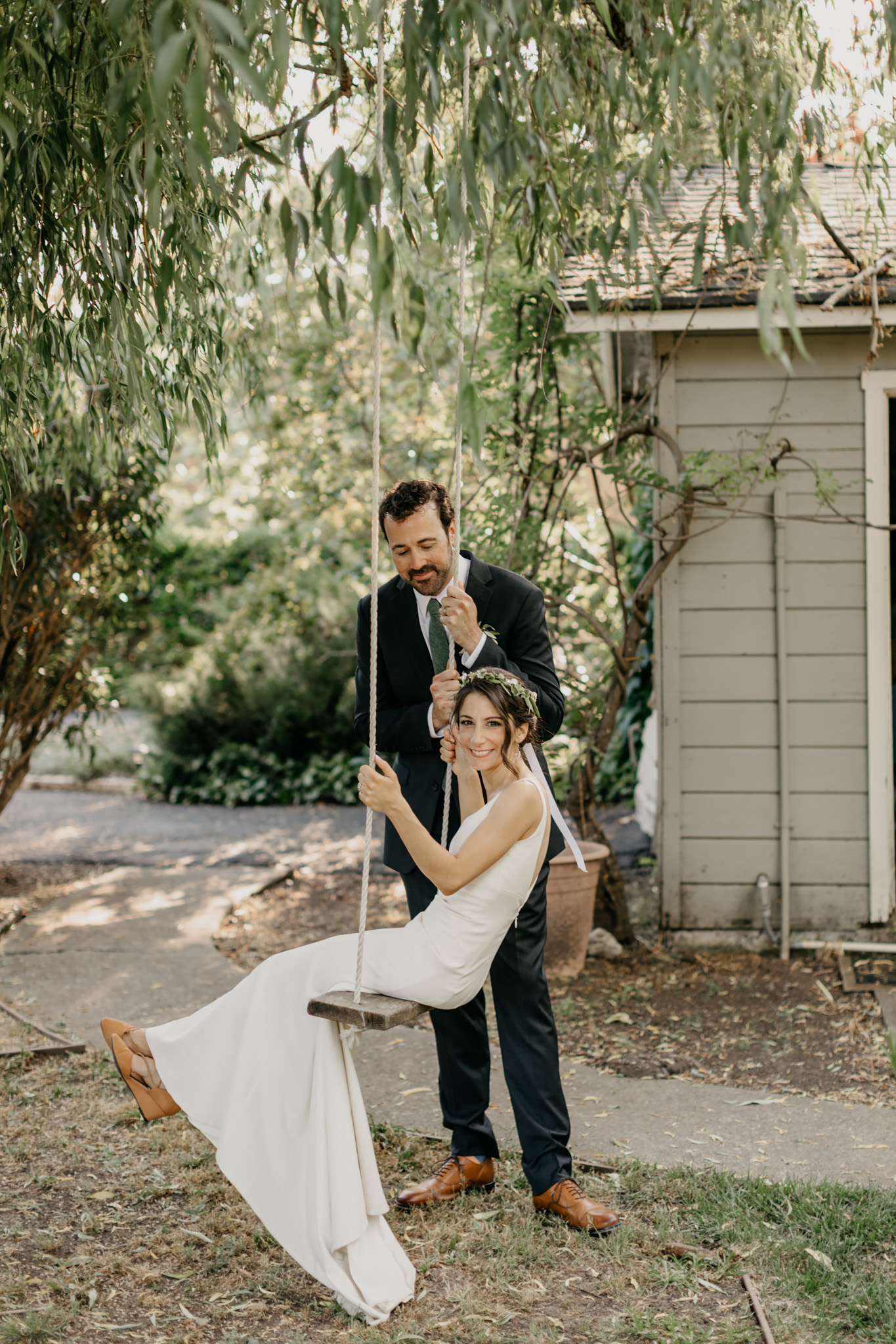Rustic Warm Vineyard California Wedding