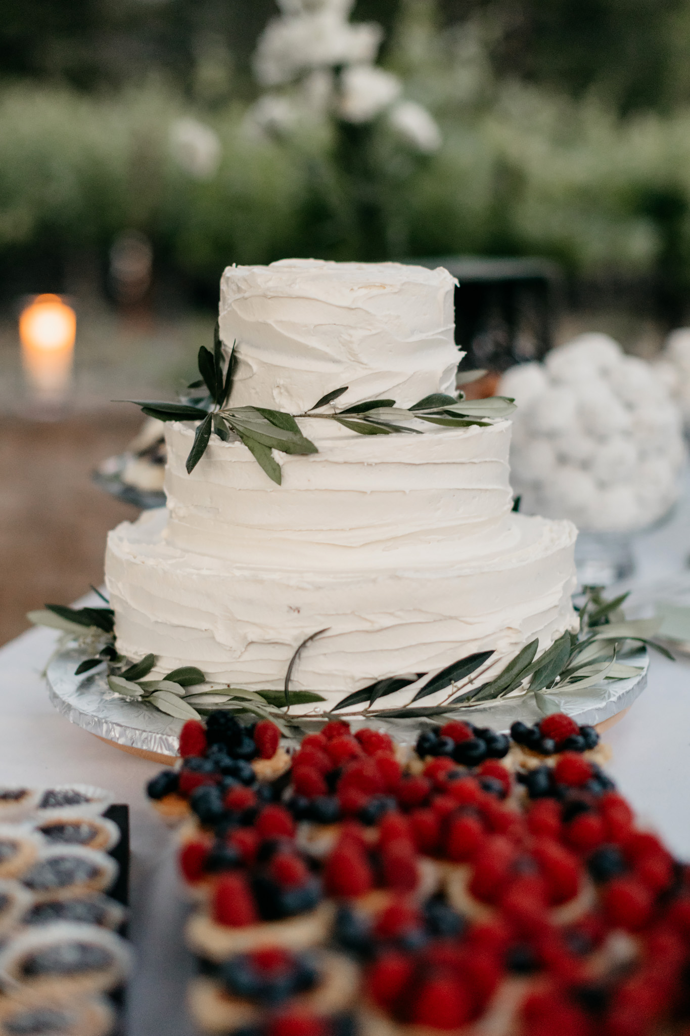 Wedding Cake Rustic Vineyard Wedding