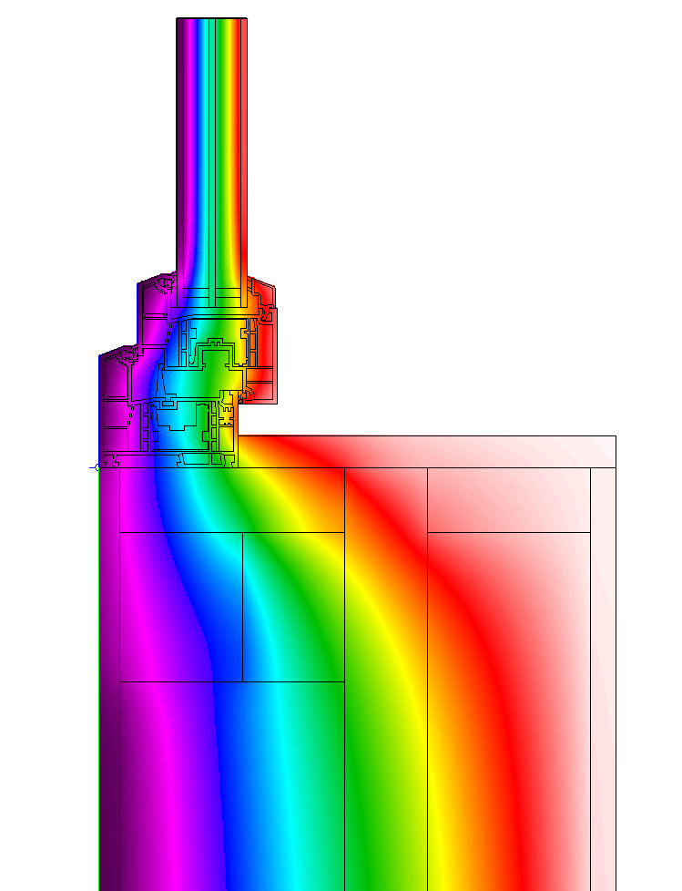 Therm Model of Window Installation