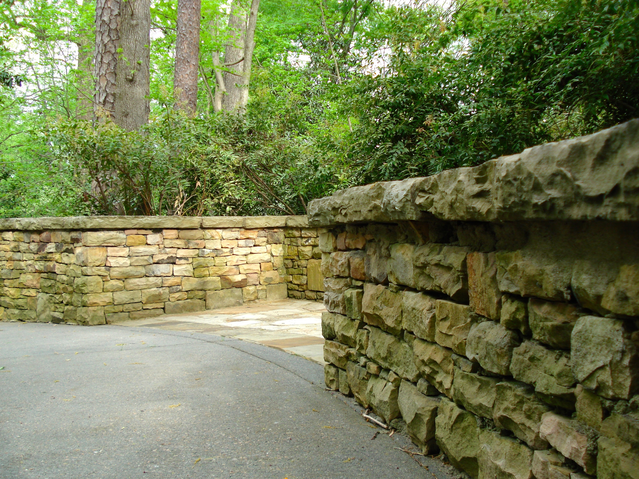 Beautiful Dry stack stone work here at the Augusta National Golf Club, leading to Amen Corner.