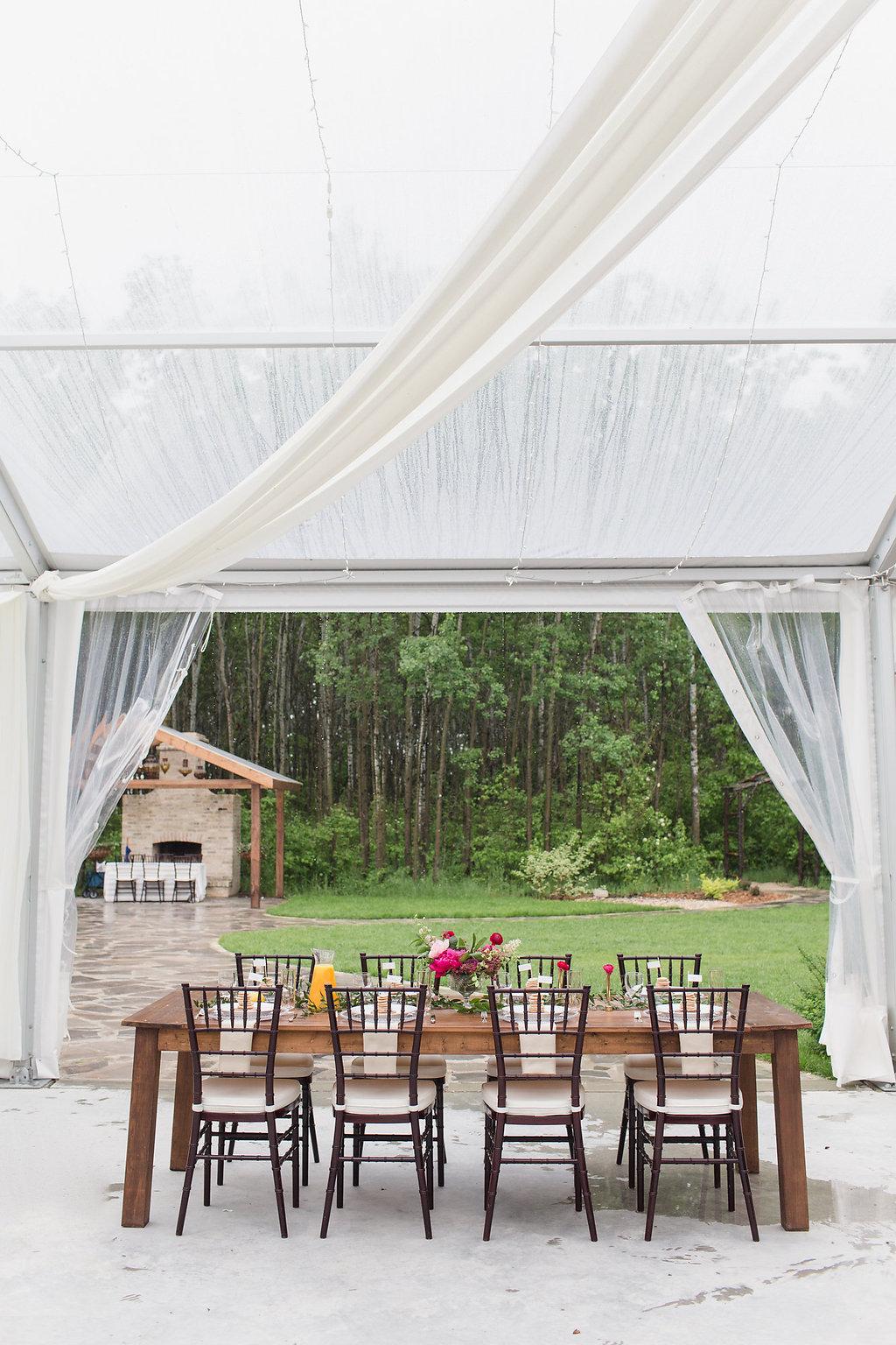 Summer Brunch Tent Wedding