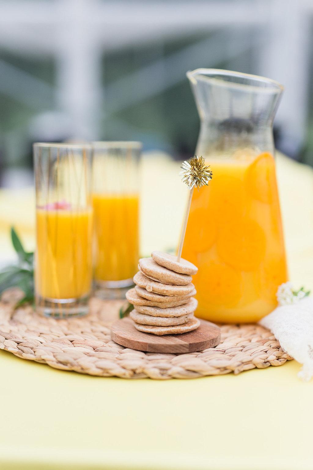 Sunrise Brunch Wedding Orange Juice Detail Inspiration