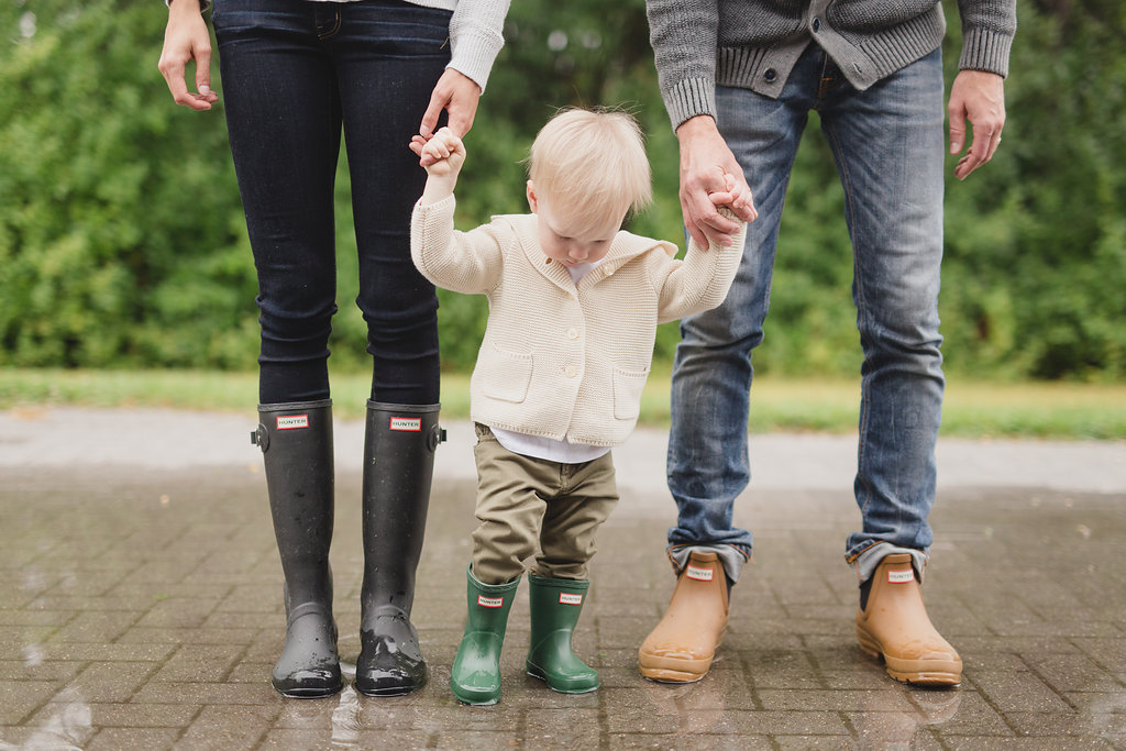 Family Photo in Rain Boots