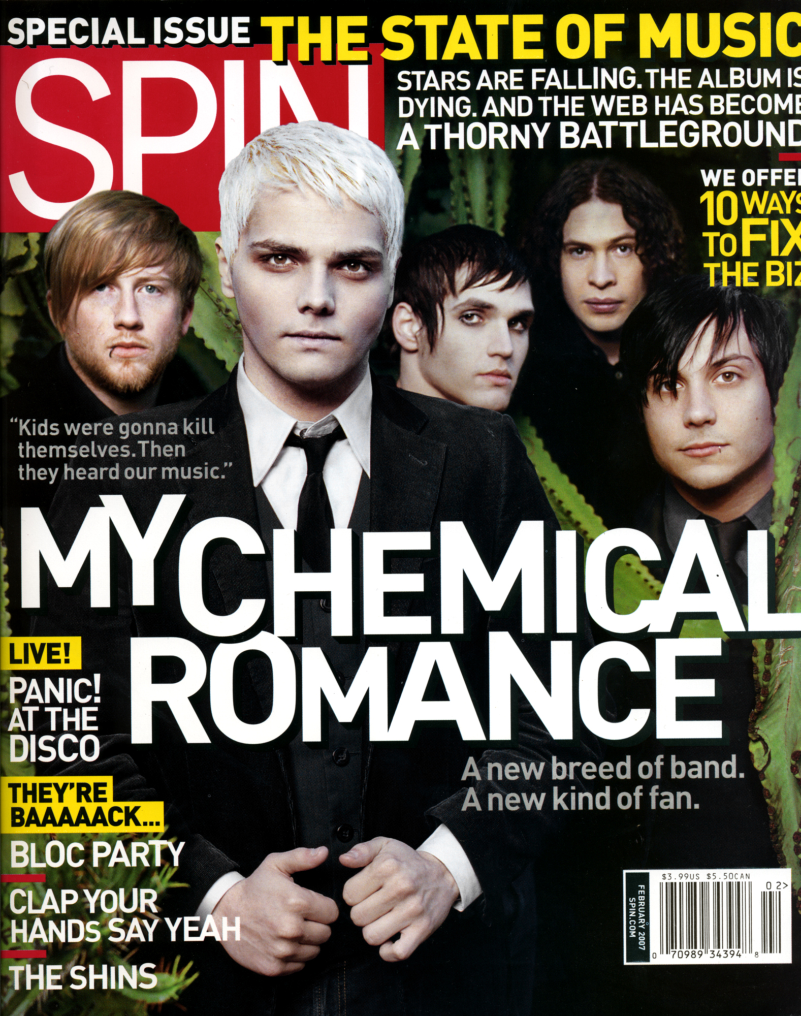 My Chemical Romance: Spin Cover & Editorial