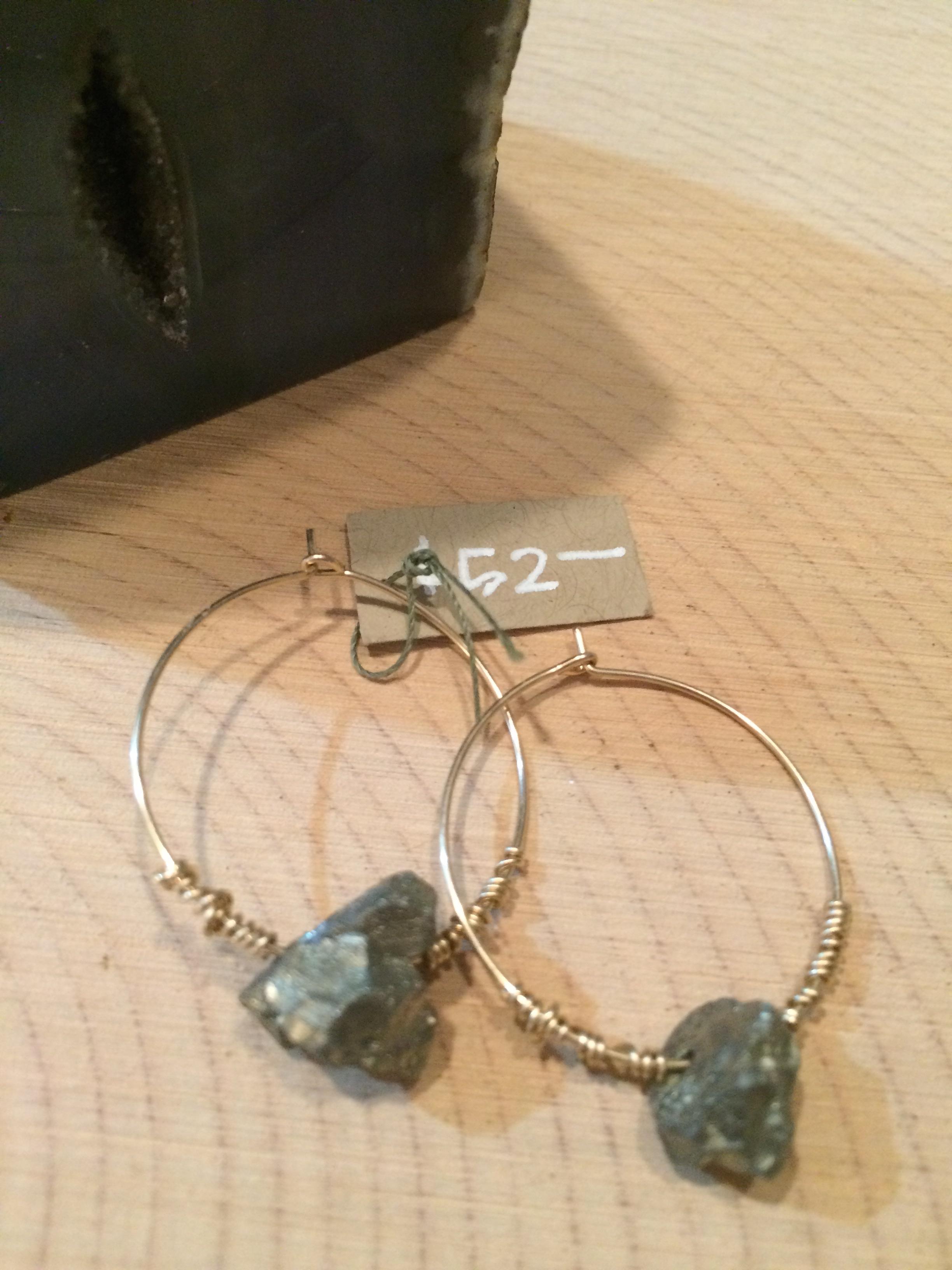 pyrite + 14k gold fill: $52