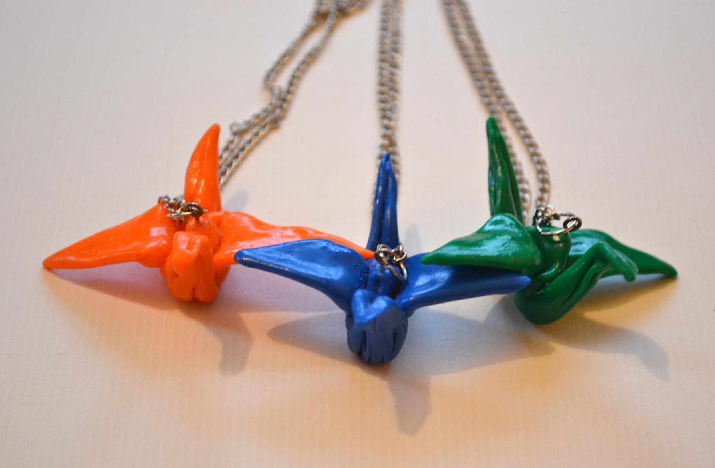 Crane Necklaces