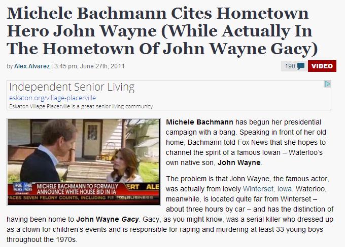 John Wayne, John Wayne Gacy... doesn't everyone mix those guys up?