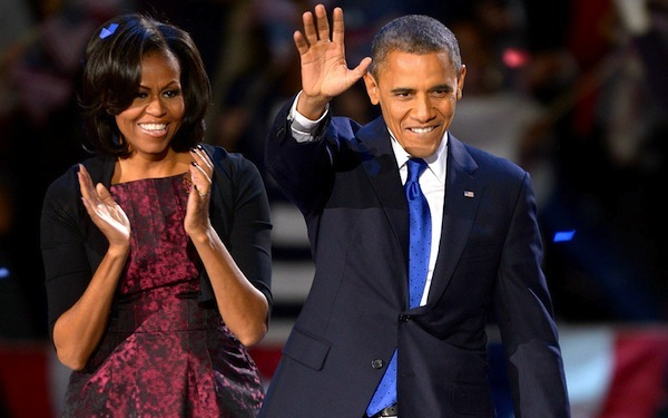 Photo: The Obamas on election night, 2012. In 2014, Democrats foolishly benched  the first Democrat since FDR to win the White House with a majority of the popular vote twice , but cynically expected the Obama coalition to put them on top. It didn't work.