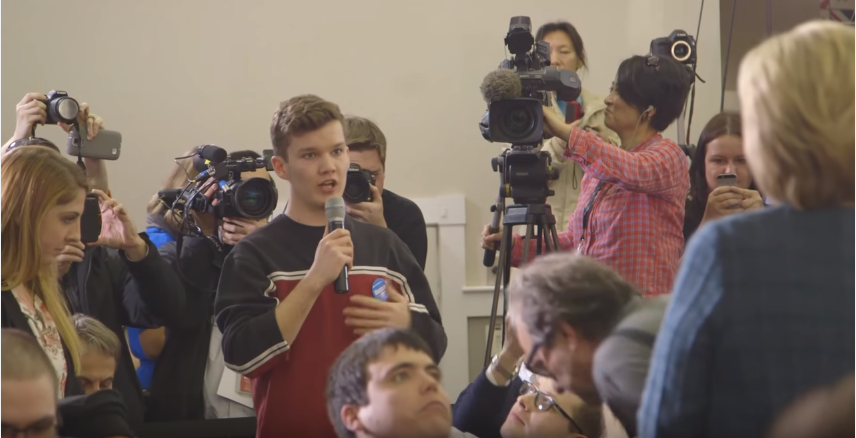 17 year old Sanders supporter asks Hillary a question.PNG