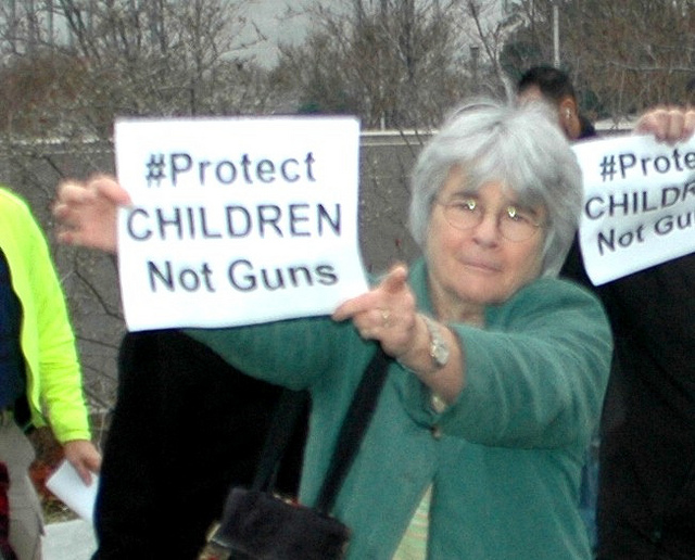 Stop NRA  by Edward Kimmel, licensed under    CC BY-SA 2.0
